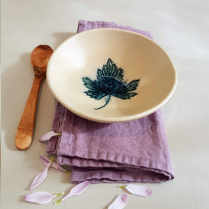 UNC Amsterdam Bowl A Story of Nature Handmade in Portugal Leaf Déco