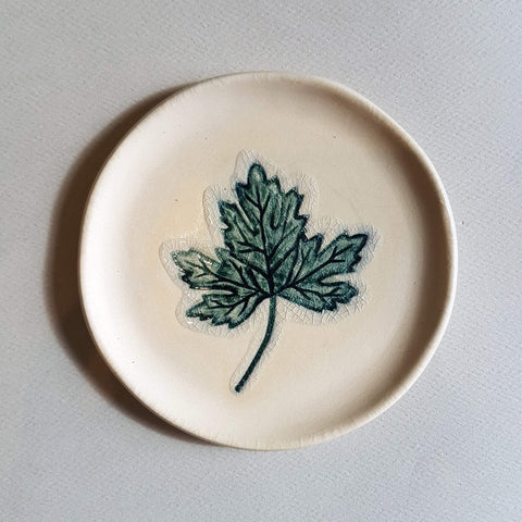 A Story of Nature Plate Handmade Leaf Déco - Unik by Nature