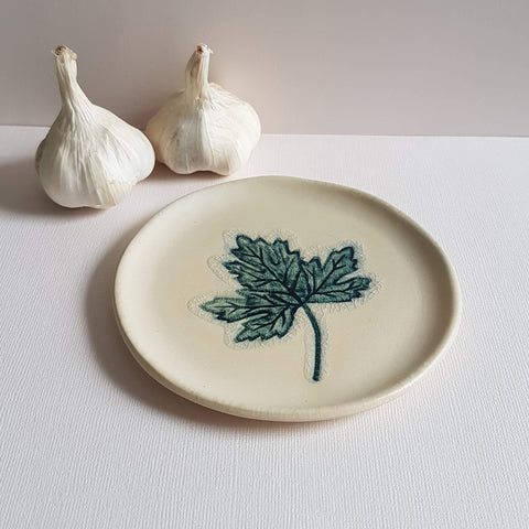 UNC Amsterdam A Story of Nature Plate Handmade in Portugal Leaf Déco