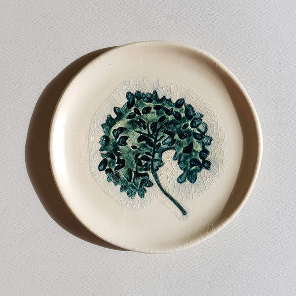 UNC Amsterdam A Story of Nature Plate Handmade in Portugal Flower Déco - Unik by Nature