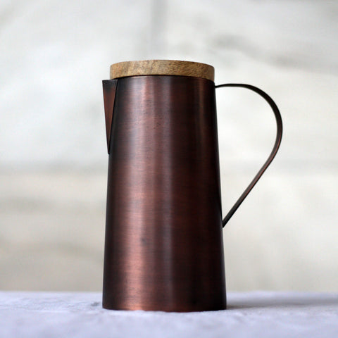Ayurvedic  Mangal Jug Copper & Mango Wood - Unik by Nature