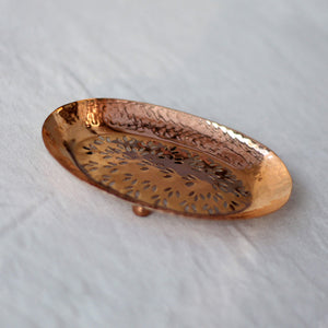 Van Verre Hand hammered Copper Soap Dish - Unik by Nature