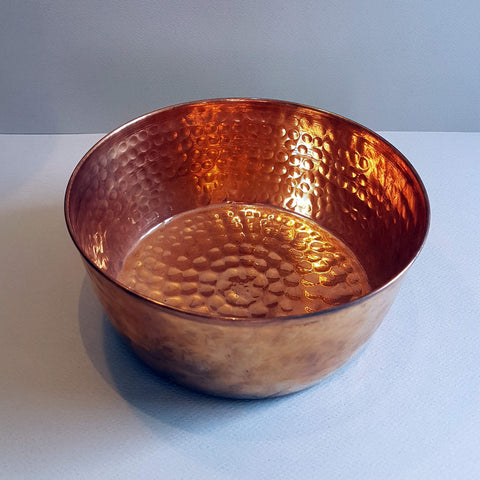 Van Verre Hand hammered Copper Hammam Bowl - Unik by Nature