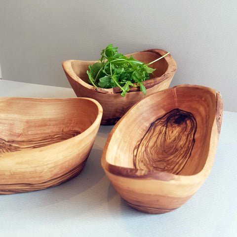 Van Verre Sustainable Olive Wood Handmade Aperitive Bowl - Unik by Nature