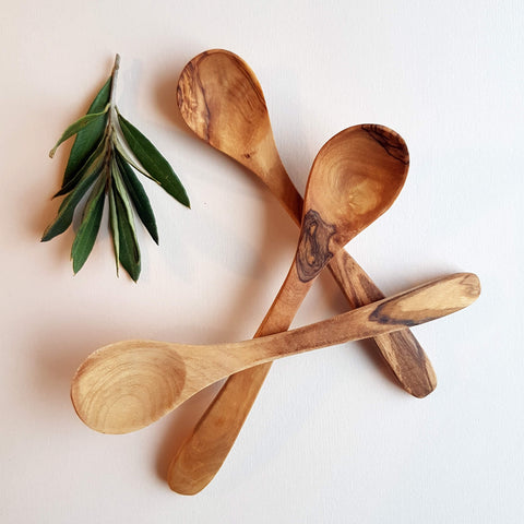 Van Verre Sustainable Olive wood Handmade Sugar Spoon - Unik by Nature