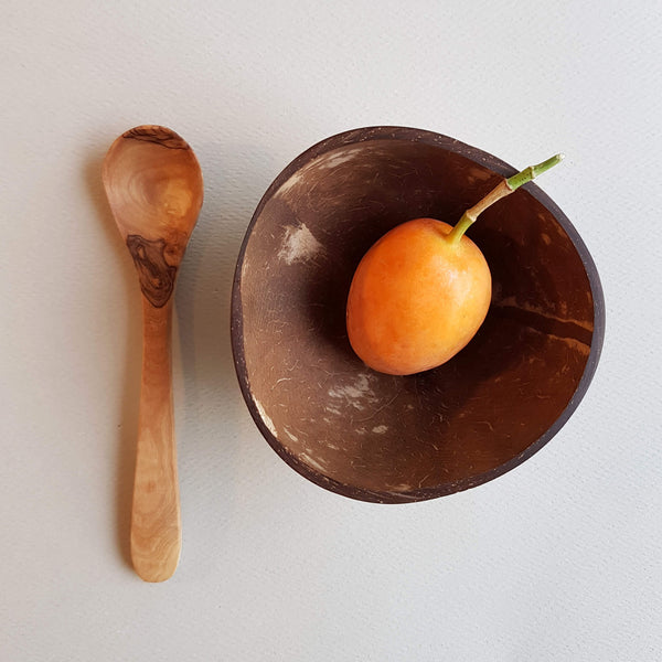 Sustainable Olive wood Handmade Sugar Spoon - Unik by Nature
