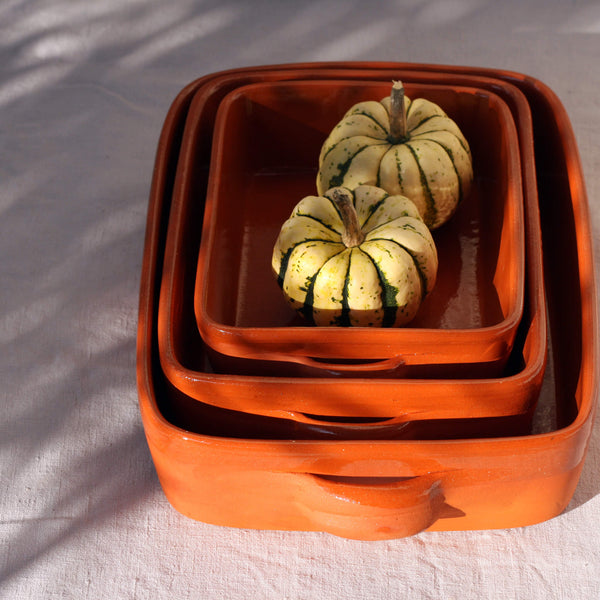 Oven Dish with Handle Handmade in Portugal Size XL - Unik by Nature