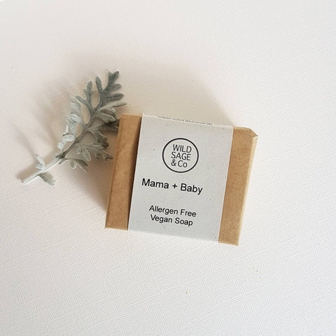 Wild & Sage Co Mama + Baby Bar Soap Sensitive Skin - Unik by Nature