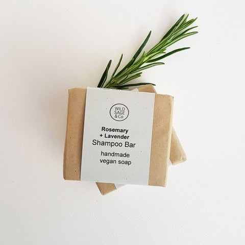 Wild & Sage Co Rosemary + Lavender Shampoo Bar All Hairtypes - Unik by Nature