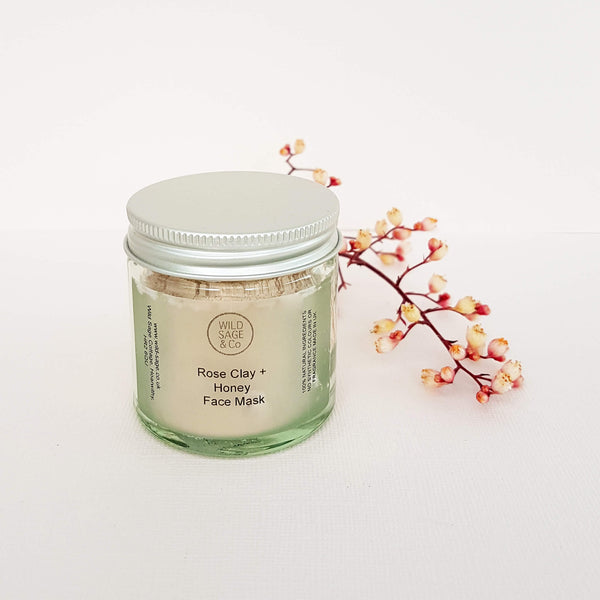 Wild & Sage Co Rose Clay + Honey Face Mask - Unik by Nature
