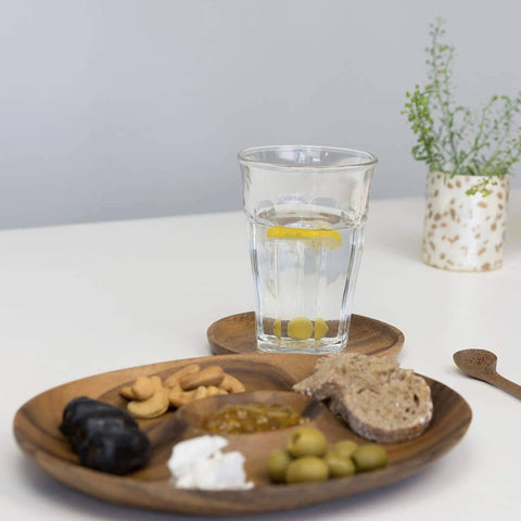 Sustainable Acacia wood Oval Appetizer serving tray - Unik by Nature