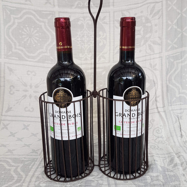Bottle holder handcrafted metal - Unik by Nature