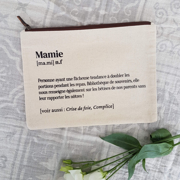 Mamie Pouch Handmade Natural Cotton White Ecru - Unik by Nature