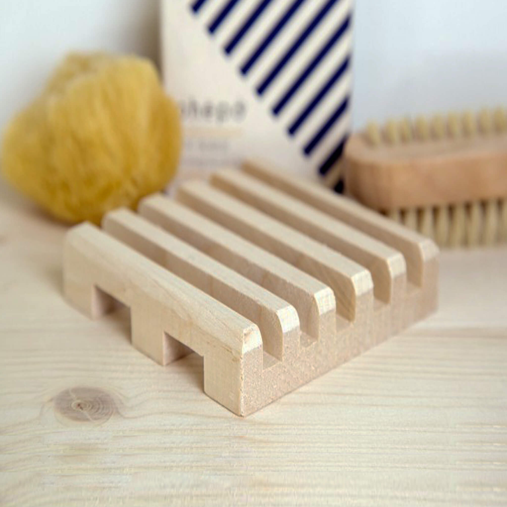 Soap Dish Parallel in Solid Maple Wood - Unik by Nature
