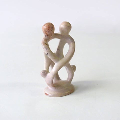 Parents with two children Minimal sculpture handcarved soapstone - Unik by Nature