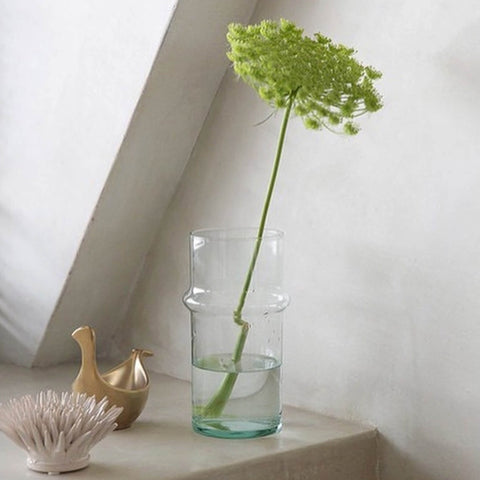 Recycled Beldi Glass Vase Handmade - Unik by Nature