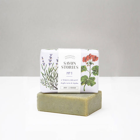 Savon Stories N°1 Organic Green Clay Bar Soap - Unik by Nature