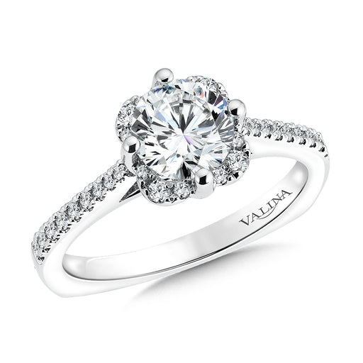Valina Floral shape halo (0.18 ct. tw.)
