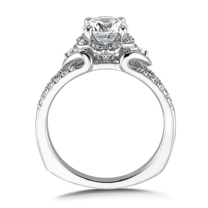 Valina Floral shape halo (0.26 ct. tw.)