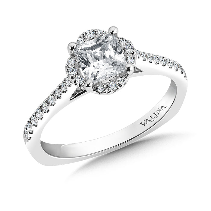 Valina Floral shape halo (0.17 ct. tw.)