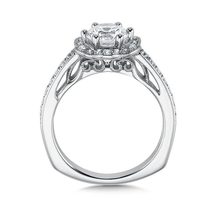 Valina Floral shape halo (0.28 ct. tw.)