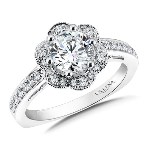 Valina Floral shape halo (0.28 ct. tw.) R9612W