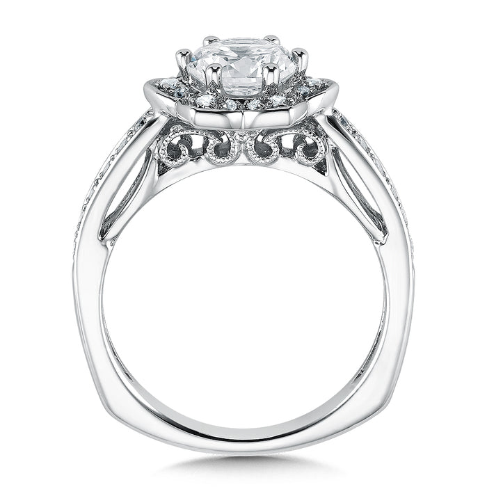 Valina Floral shape halo (0.25 ct. tw.)
