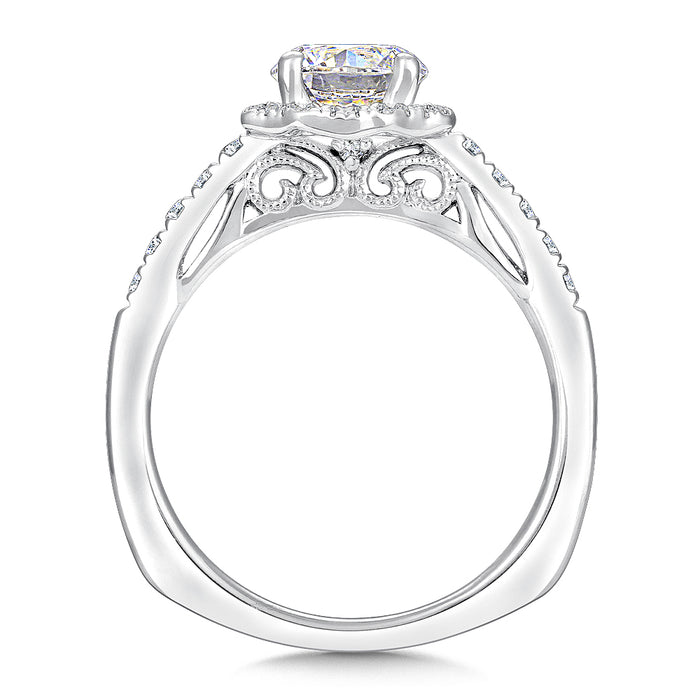 Valina Floral shape halo (0.20 ct. tw.)
