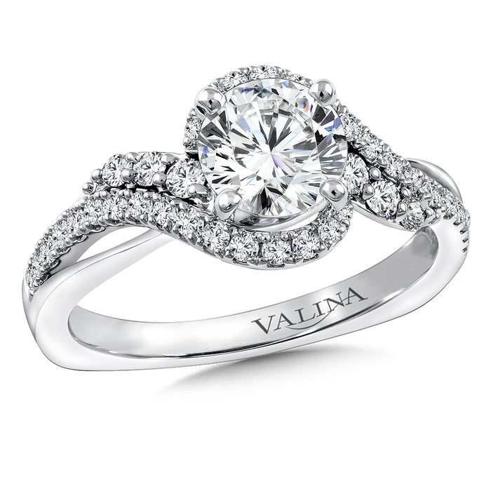 Valina Diamond Engagement Ring Mounting in 14K White Gold (0.40 ct. tw.)