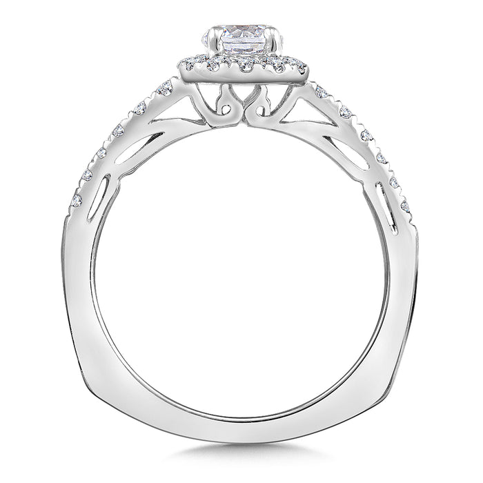 Halo Engagement Ring Mounting in 14K White Gold (.30 ct. tw.) RQ9715W