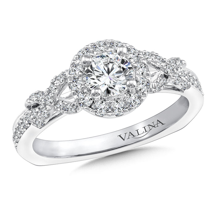 Halo Engagement Ring Mounting in 14K White Gold (.35 ct. tw.) RQ9716W