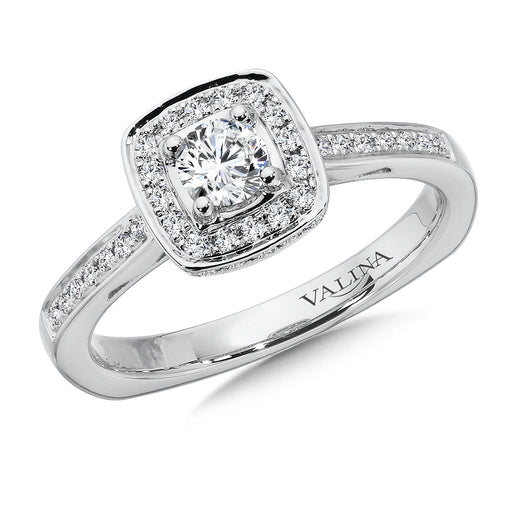 Halo Engagement Ring Mounting in 14K White Gold (.24 ct. tw.)  RQ9723W