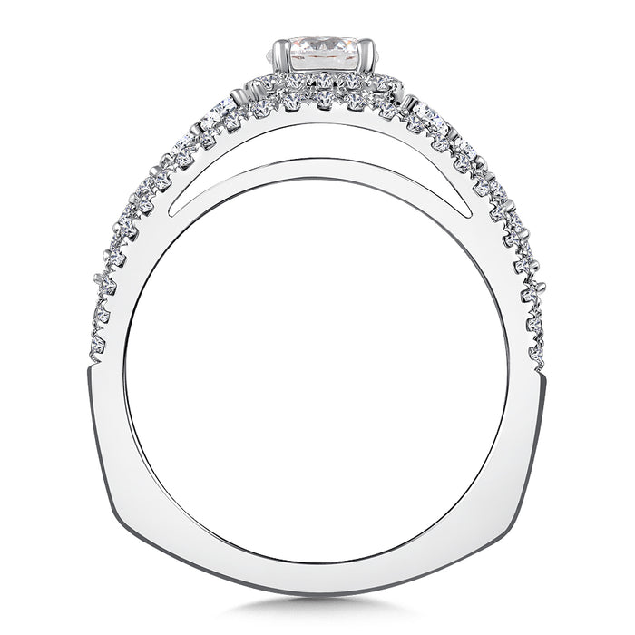 Valina Diamond Engagement Ring Mounting in 14k White/Rose Gold (.40 ct. tw.)