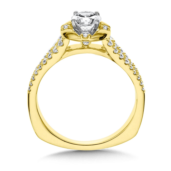 Valina Diamond Engagement Ring Mounting in 14K Yellow Gold (.30 ct. tw.)