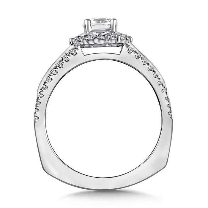 Halo Engagement Ring Mounting in 14K White Gold (.41 ct. tw.) RQ9847W