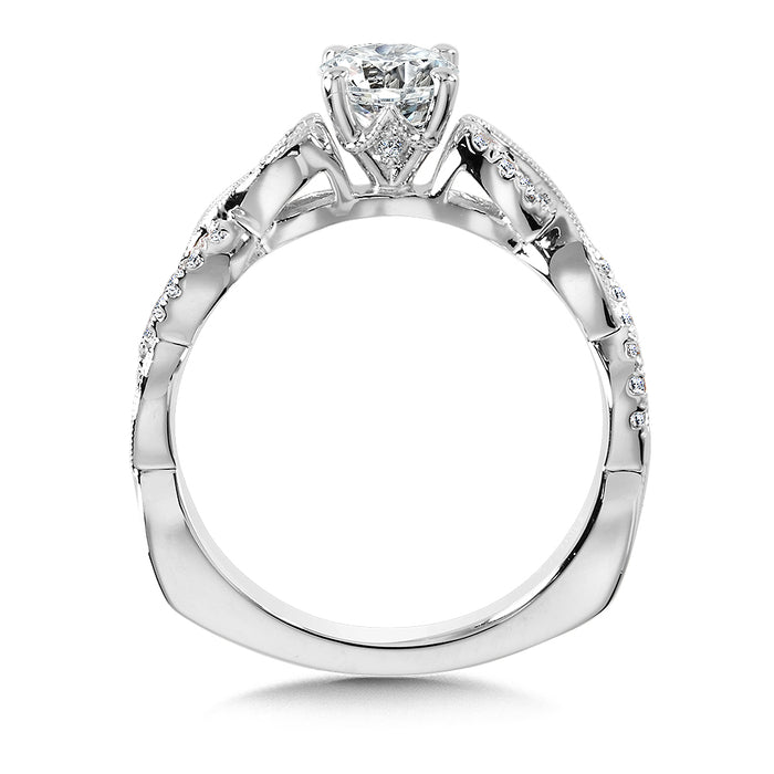 Valina Diamond Engagement Ring Mounting in 14K White Gold (0.11 ct. tw.)