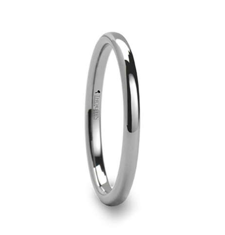 DOMINUS Domed Tungsten Carbide Ring - 2mm - 8mm