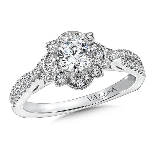 Valina Diamond Engagement Ring Mounting in 14K White Gold (.29 ct. tw.) RQ9779W