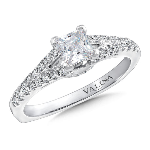 Valina Diamond Engagement Ring Mounting in 14K White Gold (.26 ct. tw.)