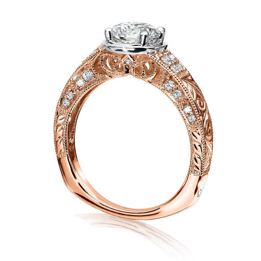 Valina Diamond Engagement Ring Mounting in 14K Rose/White Gold (.22 ct. tw.) R9686P