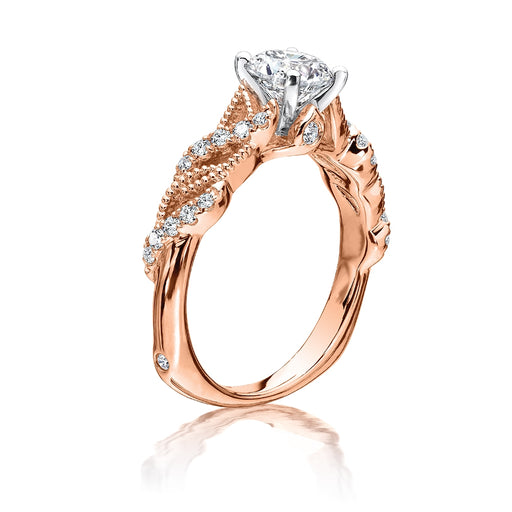 Valina Diamond Engagement Ring Mounting in 14K Rose Gold (.20 ct. tw.) R9721P