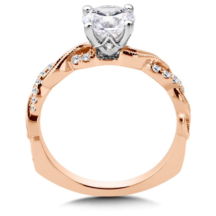 Valina Diamond Engagement Ring Mounting in 14K Rose Gold (.13 ct. tw.) R9858P