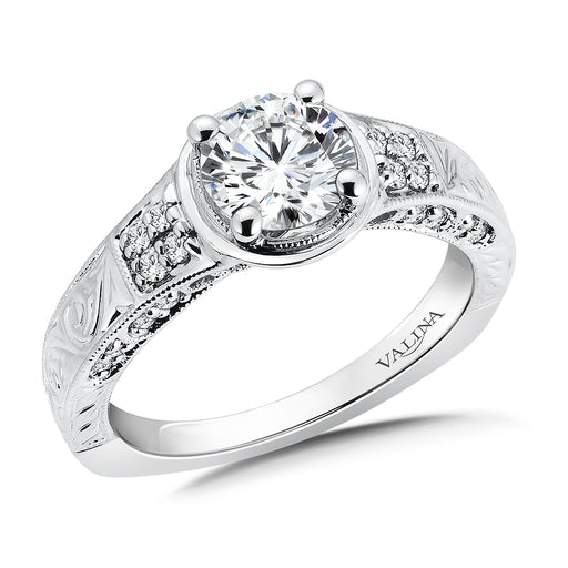 Valina Diamond Engagement Ring Mounting in 14K White Gold (.22 ct. tw.)