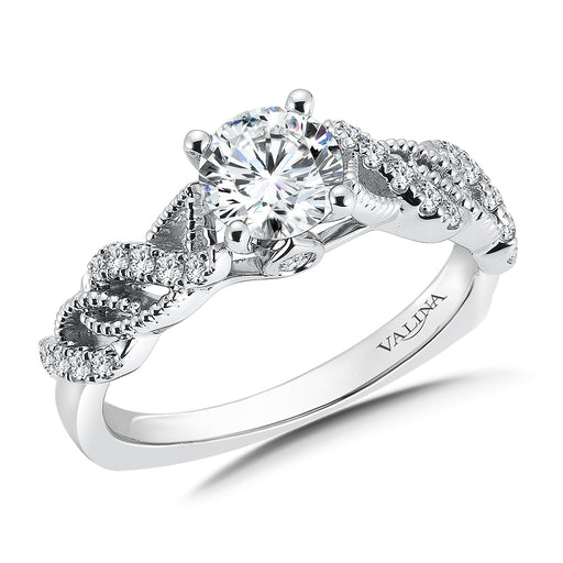 Valina Diamond Engagement Ring Mounting in 14K White Gold (.20 ct. tw.)