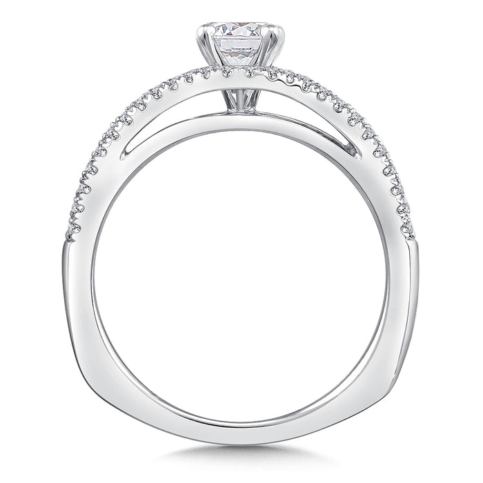 Valina Diamond Engagement Ring Mounting in 14K White Gold (.25 ct. tw.)