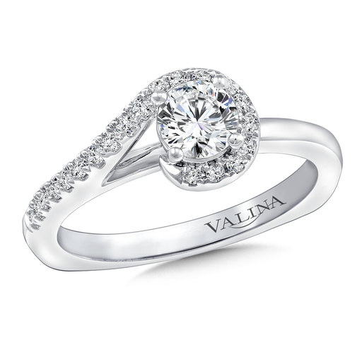 Valina Diamond Engagement Ring Mounting in 14K White Gold (.13 ct. tw.)