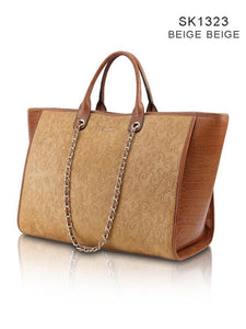 SK 1323 -  Leather big tote