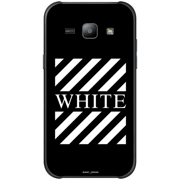 Phone Case Blach White Stripes SAMSUNG Galaxy J1 Ace