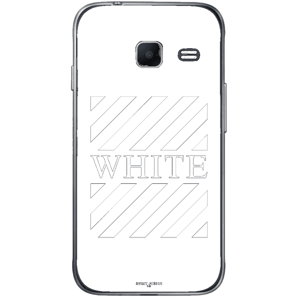 Phone Case Blach White Stripes SAMSUNG Galaxy J1 Mini