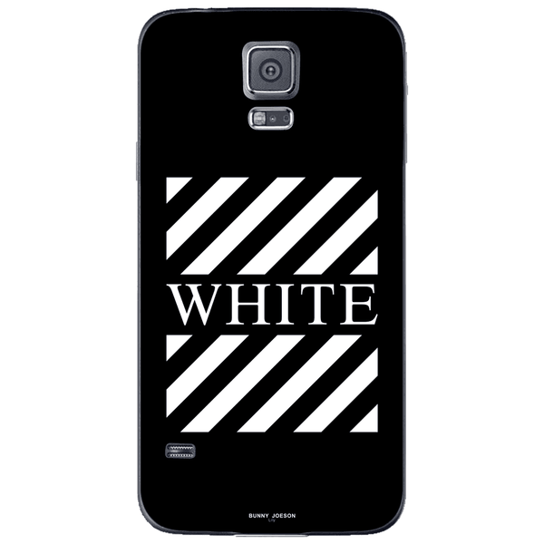 Phone Case Blach White Stripes SAMSUNG Galaxy S5